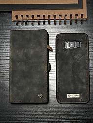billiga -CaseMe fodral Till Samsung Galaxy S8 Plånbok / Korthållare / med stativ Fodral Enfärgad Hårt PU läder för S8