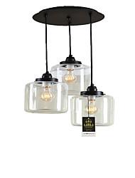 Недорогие -Lightinthebox 3-Light кластер Подвесные лампы Потолочный светильник Электропокрытие Металл Стекло Мини 110-120Вольт / 220-240Вольт Лампочки включены / E26 / E27