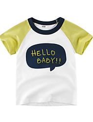お買い得  -幼児 男の子 ベーシック ソリッド 半袖 ポリエステル Tシャツ イエロー
