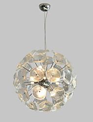 Недорогие -QIHengZhaoMing 9-Light Подвесные лампы Рассеянное освещение Электропокрытие Металл Стекло 110-120Вольт / 220-240Вольт Теплый белый