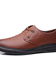 cheap -Men's Comfort Shoes PU(Polyurethane) Fall Casual Oxfords Wear Proof Black / Brown