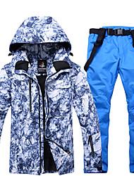 Недорогие -ARCTIC QUEEN Муж. Лыжная куртка и брюки С защитой от ветра, Водонепроницаемость, Теплый Катание на лыжах / Сноубординг / Зимние виды спорта Полиэфир, Экологичность Полиэстер / Зима