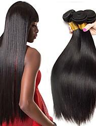 Недорогие -4 Связки Прямой Необработанные натуральные волосы 100% Remy Hair Weave Bundles Человека ткет Волосы Уход за волосами Пучок волос 8-28 дюймовый Естественный цвет Ткет человеческих волос