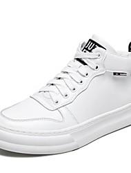 preiswerte -Herrn Komfort Schuhe Mikrofaser Winter Sneakers Weiß / Schwarz