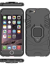 Недорогие -Кейс для Назначение Apple iPhone 6s / iPhone 6 Защита от удара / Кольца-держатели Кейс на заднюю панель Однотонный / броня Твердый ПК