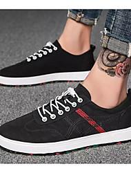 hesapli -Erkek Ayakkabı Kanvas İlkbahar & Kış Spor Ayakkabısı Günlük için Beyaz / Siyah