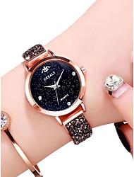 abordables -Femme Montre Bracelet Quartz Noir / Argent / Or Rose 30 m Etanche Design nouveau Analogique Décontracté Mode - Noir Argent Or Rose