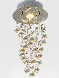 abordables -LightMyself™ Cristal Lampe suspendue Lumière dirigée vers le bas Autres Cristal Cristal 110-120V / 220-240V Ampoule incluse / GU10