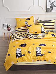 levne -Povlečení Komiks Polyester S potiskem 4 kusyBedding Sets