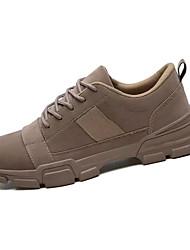 hesapli -Erkek Ayakkabı PU Sonbahar Günlük Spor Ayakkabısı Günlük için Siyah / Gri / Kahverengi
