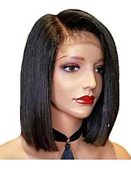 Недорогие -короткие боб прямые парики кружева перед парики человеческих волос бразильский реми парик человеческих волос с волосами младенца для женщин