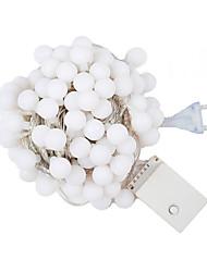 abordables -10m Guirlandes Lumineuses 80 LED LED Dip Blanc Chaud / RVB / Blanc Imperméable / Décorative / Noël 1pc / IP65