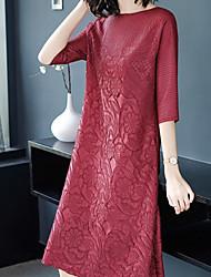 Недорогие -Жен. Классический Туника Платье Средней длины