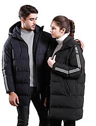 Недорогие -Муж. Мягкая пиджак на открытом воздухе Зима С защитой от ветра Устойчивость к УФ Дожденепроницаемый Воздухопроницаемость Пуховики Верхняя часть Односторонняя