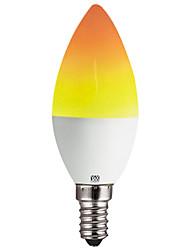 Недорогие -YWXLIGHT® 1шт 2 W 100-200 lm E14 / E12 LED лампы в форме свечи C35 39 Светодиодные бусины SMD 2835 Для вечеринок / Декоративная / Новогоднее украшение для свадьбы Желтый 100-240 V
