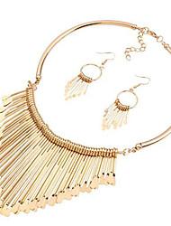 Недорогие -Жен. Синтетический алмаз Комплект ювелирных изделий - Массивный, Крупногабаритные Включают Золотой Назначение Для вечеринок Официальные / Серьги / Ожерелья