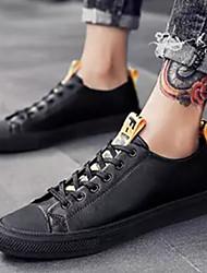abordables -Homme Chaussures de confort Microfibre Eté Basket Blanc / Noir / Noir / blanc