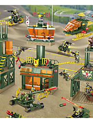 Недорогие -Конструкторы Конструкторы Игрушки Обучающая игрушка 100-200 pcs Армия Танк Вертолет совместимый Legoing моделирование Военная техника Танк Вертолет Все Мальчики Девочки Игрушки Подарок