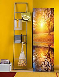 Недорогие -Наклейки на холодильник - 3D наклейки Пейзаж / Цветочные мотивы / ботанический Кухня / Столовая