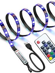 Недорогие -zdm водонепроницаемый 1 м rgb полосы огни 60 светодиодов 5050 smd 1 м светодиодные полосы света / 17-клавишный пульт дистанционного управления rgb tv фоновой свет ip65