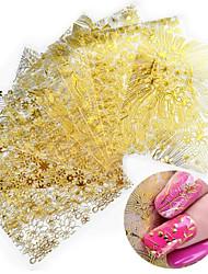 Недорогие -8 pcs 3D наклейки на ногти Креатив маникюр Маникюр педикюр Лучшее качество модный / Мода Повседневные