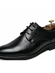 hesapli -Erkek Ayakkabı PU Bahar İş Oxford Modeli Günlük için Siyah