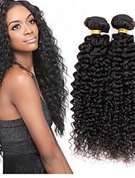 tanie -3 zestawy Włosy indyjskie Kinky Curl Włosy naturalne Fale w naturalnym kolorze Doczepy Pakiet włosów 8-28 in Kolor naturalny Ludzkie włosy wyplata Gładki Natutalne Najwyższa jakość Ludzkich włosów