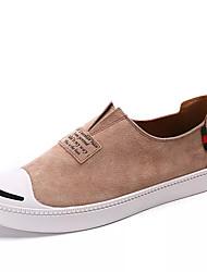 voordelige -Heren Comfort schoenen PU Lente Informeel Loafers & Slip-Ons Ademend Zwart / Grijs / Amandel