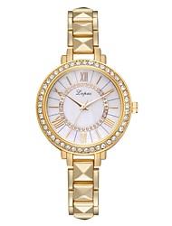 Недорогие -Жен. Наручные часы Diamond Watch Кварцевый Серебристый металл / Золотистый / Розовое золото Новый дизайн Повседневные часы Имитация Алмазный Аналоговый На каждый день Мода - / Один год / Один год