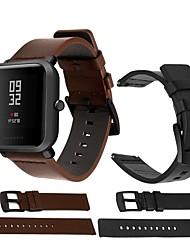 Недорогие -Ремешок для часов для Huami Amazfit A1602 / Huami Amazfit A1607 Xiaomi Спортивный ремешок / Классическая застежка Кожа Повязка на запястье