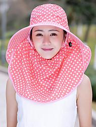 billige -kvinders polyester sol hat - polka dot