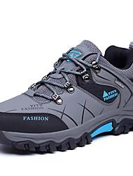 hesapli -Erkek Ayakkabı PU Bahar Günlük Atletik Ayakkabılar Dağ Yürüyüşü Günlük için Gri / Kahverengi / Koyu Yeşil