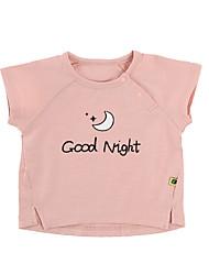 お買い得  -赤ちゃん 男の子 活発的 日常 ソリッド / 幾何学模様 半袖 レギュラー ポリエステル Tシャツ ピンク
