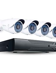 Недорогие -jooan® 2mp 4ch система безопасности высокого разрешения nvr с 4pcs 1080p наружной ip-камерой