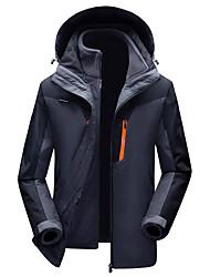 Недорогие -Муж. Куртки 3-в-1 на открытом воздухе Зима С защитой от ветра Дожденепроницаемый Воздухопроницаемость Пригодно для носки Куртки 3-в-1 Верхняя часть Односторонняя