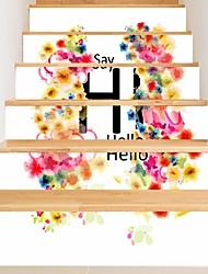 Недорогие -Декоративные наклейки на стены - 3D наклейки Арабеска / Цветочные мотивы / ботанический Гостиная / В помещении