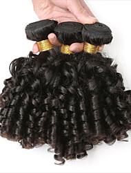 tanie -3 zestawy Włosy brazylijskie Bouncy Curl Włosy naturalne remy Doczepy z naturalnych włosów 10-28 in Natutalne Ludzkie włosy wyplata Najwyższa jakość Nowości Gorąca wyprzedaż Ludzkich włosów