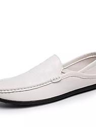 hesapli -Erkek Ayakkabı PU Bahar Günlük Mokasen & Bağcıksız Ayakkabılar Günlük için Siyah / Kahverengi / Mavi