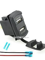 Недорогие -iztoss двойной USB автомобильное зарядное устройство цифровой светодиодный дисплей вольтметр с проводами и изоляцией термоусадочной