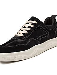 זול -בגדי ריקוד גברים נעלי נוחות PU אביב יום יומי נעלי ספורט נושם לבן / שחור / חאקי