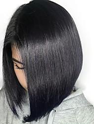 preiswerte -Cabello Natural Remy 6x13 Verschluss Perücke Bob Bubikopf Stil Brasilianisches Haar Natürlich gerade Perücke 130% Haardichte Damen Natürlich Komfortabel Bob-Frisur mit Mittelscheitel 100% Jungfrau