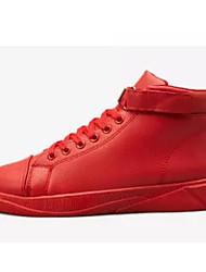hesapli -Erkek Ayakkabı PU İlkbahar & Kış Spor Ayakkabısı Günlük / Dış mekan için Beyaz / Siyah / Kırmzı