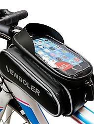 Недорогие -Сотовый телефон сумка / Бардачок на раму 5.5 - 6.2 дюймовый Велоспорт для Samsung Galaxy S6 edge / iPhone 8 Plus / 7 Plus / 6S Plus / 6 Plus Черный