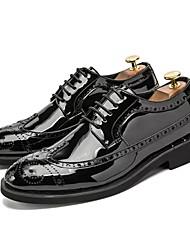 hesapli -Erkek Ayakkabı PU Kış Oxford Modeli Parti ve Gece / Ofis ve Kariyer için Altın / Siyah / Gümüş