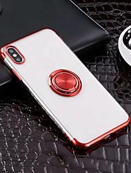 hesapli -Pouzdro Uyumluluk Apple iPhone XR / iPhone XS Max Yüzüklü Tutacak / Ultra İnce / Şeffaf Arka Kapak Solid Yumuşak TPU için iPhone XS / iPhone XR / iPhone XS Max