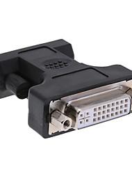 Недорогие -DVI 24 + 5 Адаптер, DVI 24 + 5 к VGA Адаптер Женщина мужчина Короткий (менее 20 см)