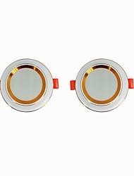 billige -2pcs 5 W 360 lm 20 LED Perler Let Instalation Forsænket LED nedlys Varm hvid Kold hvid 220-240 V Hjem / kontor Stue / spisestue