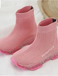 tanie -Dla chłopców / Dla dziewczynek Obuwie PU Wiosna i jesień Wygoda Adidasy Sznurowane / Tasiemka na Dzieci Czarny / Różowy