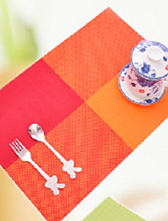 cheap -Contemporary 100g / m2 Polyester Knit Stretch Square Placemat Geometric Table Decorations 1 pcs