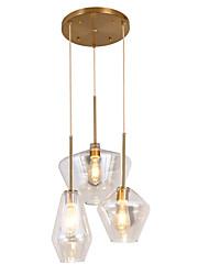 Недорогие -ZHISHU 3-Light геометрический / Оригинальные Подвесные лампы Потолочный светильник Окрашенные отделки Металл Стекло Творчество, Новый дизайн 110-120Вольт / 220-240Вольт